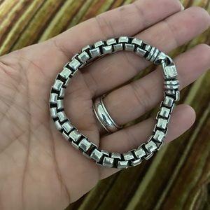 James Avery Box Link Bracelet